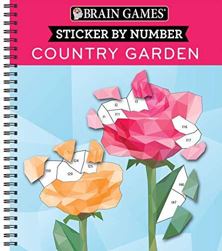 Brain Games - Sticker by Number: Country Garden