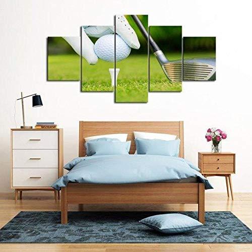 VYQDTNR Cinque 5 Tele Tee Up – Sport Giclée Moderno, Artwork, Decorazioni Interni, Senza Cornice, Larghezza: 150cm Altezza: 80cm