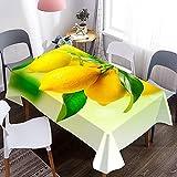 Cubierta de Mesa 3D, Mantel con patrón de Fruta de limón, Adecuado para Mantel de Picnic, Fiesta de cumpleaños, Cena, decoración del hogar M-15 140x160cm