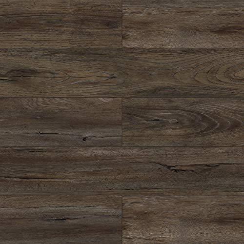 Dotfloor Vinyl Planks Flooring Tiles 30.88 sq.ft SPC Floor Plank Interlocking Floating Planks Glue Free Wood Grain with IXPE Underlay 4.5mm for Home Office Bathroom?Darkbrown)