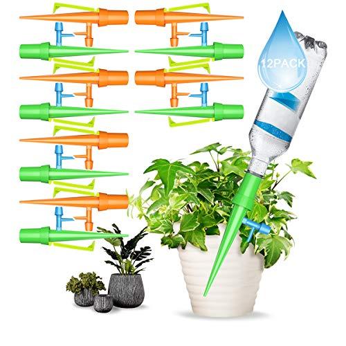 Eurobuy växt vattningsanordningar, 12 st automatisk vattningsenhet med reglering för långsam utsläpp ventilomkopplare, växtvatten, självvattning spikes för inomhus och utomhus hemmakontorsväxter stil 1