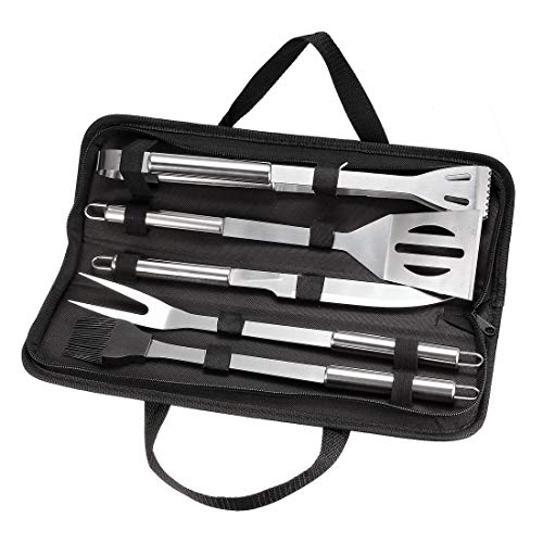 Best Prices! uxcell BBQ Grill Tool Set- 12 in 1 Stainless Steel Barbecue Grilling Accessories with C...