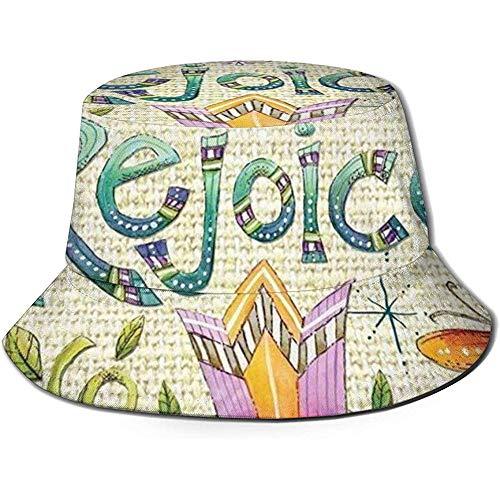 Regocíjate Semana Santa Religiosa Vacaciones Sombrero del Cubo Verano UV Sol Pescador...