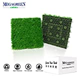 Artificial Grass Turf Interlocking GrassTiles, Multipurpose Soft Grass Rug, 12''x12'' Self-draining Mat