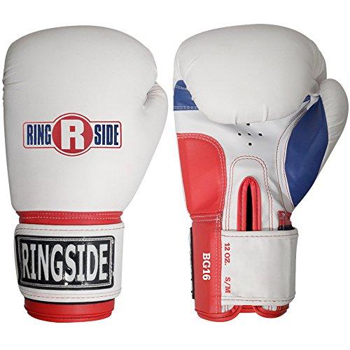 Ringside Luvas de treinamento de boxe estilo profissional Kickboxing Muay Thai Gel saco de pancada, Grande/GG, Branco
