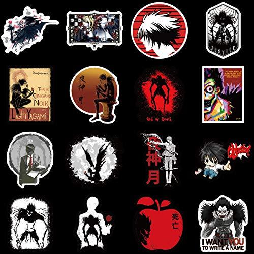 Vinyl-Aufkleber für Laptop, Auto, Helm, Skateboard, Gepäck, Graffiti, 50 Stück Todesnote