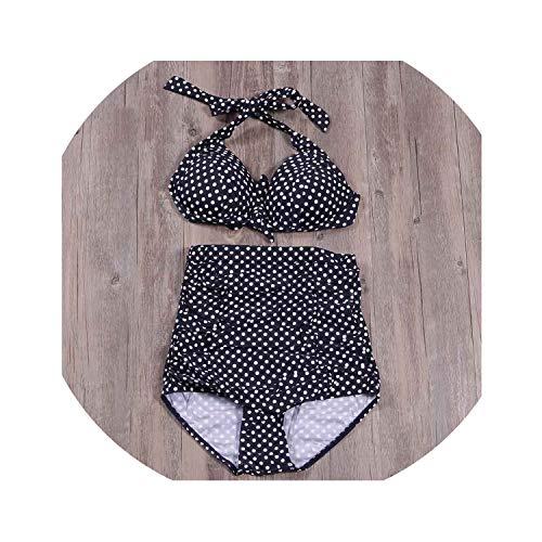 2019 New Summer Sexy Bikinis Women Swimsuit High Waisteds Push Up Set Dot Plus Size Swimwear S~4XL,21,4XL