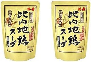 浅利佐助商店 比内地鶏スープ 【レトルト】 200gX2個セット