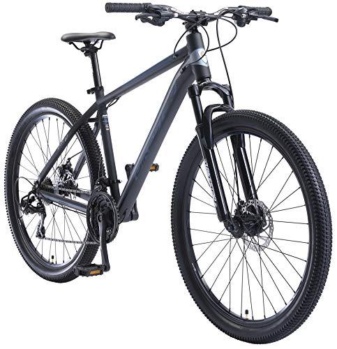 BIKESTAR Hardtail Aluminium Mountainbike Shimano 21 Gang Schaltung, Scheibenbremse 27.5 Zoll Reifen | 18 Zoll Rahmen Alu MTB | Blau