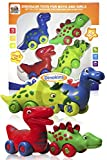3 Bees & Me Dinosaur Toys for Boys and Girls - Set of 4 Toy Dinosaurs...
