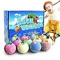 TEHOOK 12 Pack Bath Bombs with Surprise Marine Toys Inside for Kids, 3.5oz Bubble Bath for Birthday or Easter Gift for Girls, Boys, Women Dry Skin Moisturize, Handmade 12 Gift Set