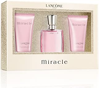 Lancome Miracle Gift Set 1.0oz (30ml) EDP + 1.7oz (50ml) Body Lotion + 1.7oz (50ml) Shower Gel