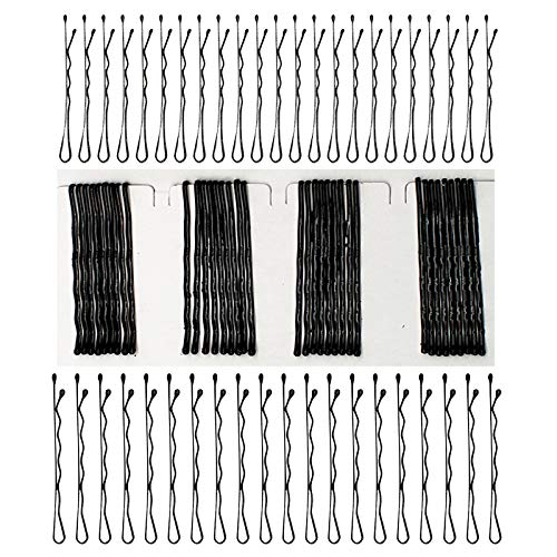 Dylan-EU 312 Stück Haarnadeln Schwarzes Metall Wellenform Haarklammern Klassische Bobby Pins für Mädchen und Frauen Haarzusätze