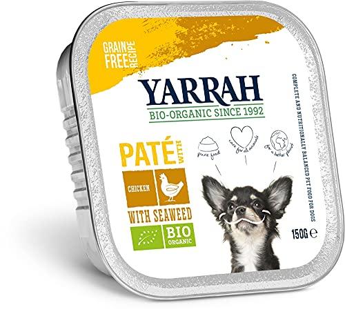 Yarrah Nourriture bio pour chien - Poulet paté avec algues marines - 150 g - Lot de 12