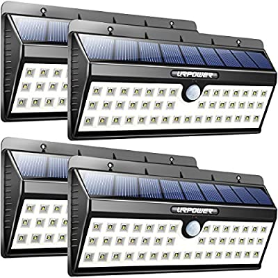 URPOWER Solar Lights, 44 LED Waterproof Motion Sensor Lights Outdoor Wireless Solar Powered Wall Light Motion Activated Auto On/Off Solar Security Lights Outdoor for Patio Deck Yard Cool White