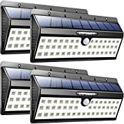 URPOWER Solar Lights, 44 LED Waterproof Motion Sensor Lights Outdoor Wireless Solar Powered Wall Light Motion Activated Auto On/Off Solar Security Lights Outdoor for Patio Deck Yard Cool White 4 Pack