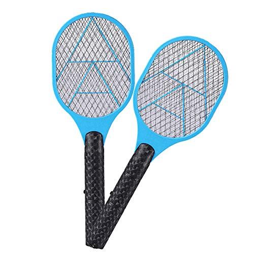 OWEM Moskito-Klatsche-Mörder-elektrischer Tennisschläger-Handschläger-Insekten-Fliegen-Käfer Wasp ideal für Zuhause oder Reisen,Blue