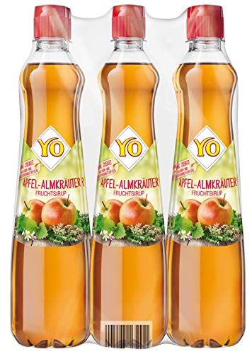 Yo Sirup Apfel-Almkräuter, 6er Pack, PET (6 x 700 ml)