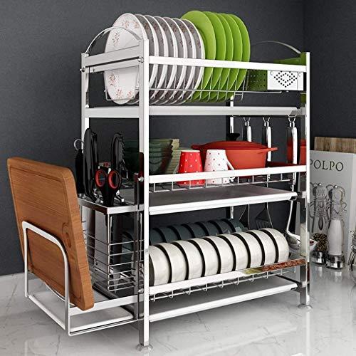 Mr.T afdruiprek, keukenorganizer voor gootsteen, wasrek, gebruiksvoorwerpen, aluminiumlegering, keuken opslag