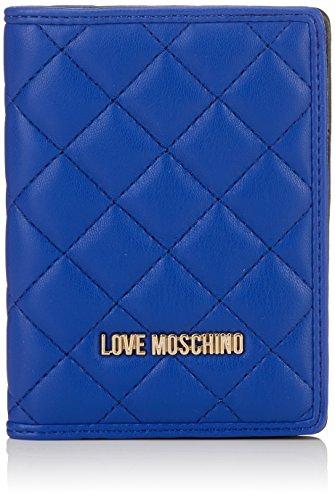 Love Moschino Portafogli Nappa Pu Blu, Pochettes femme, Bleu (Blue), 1x14x10 cm (B x H T)