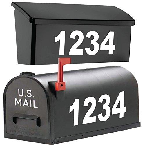 "Custom Mailbox Vinyl Decal Sticker Set of 2 5.25/""H x 11/""W Each"
