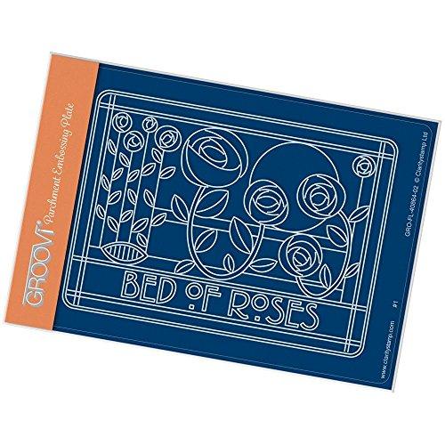 Clarity Stamps Groovi-Teller im Jugendstil mit Rosenmotiv, A6
