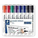Staedtler Lumocolor 351 B WP8X Whiteboard-Marker (Keilspitze ca. 2 oder 5 mm Linienbreite, Set mit 8...