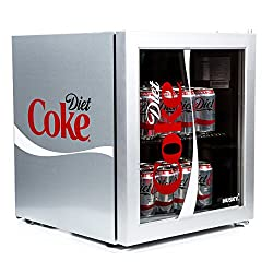 45.8 Litre capacity reversible glass door Compressor technology, Adjustable thermostat Capable of storing 40 x 440ml cans Dimensions (H x W x D cms) 51 x 43 x 46