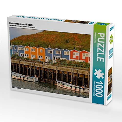 Hummerbuden und Boote 1000 Teile Puzzle quer: Hummerbuden auf Helgoland