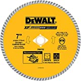 DEWALT DW4702 Industrial 7-Inch Dry or Wet Cutting Continuous Rim Diamond Saw Blade with 5/8-Inch and Diamond Knockout Arbor