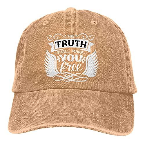 """Dyfcnaiehrgrf Gorra de béisbol unisex ajustable y lavable con texto """"Verse Verse Truth Shall para el aire libre"""", color negro"""