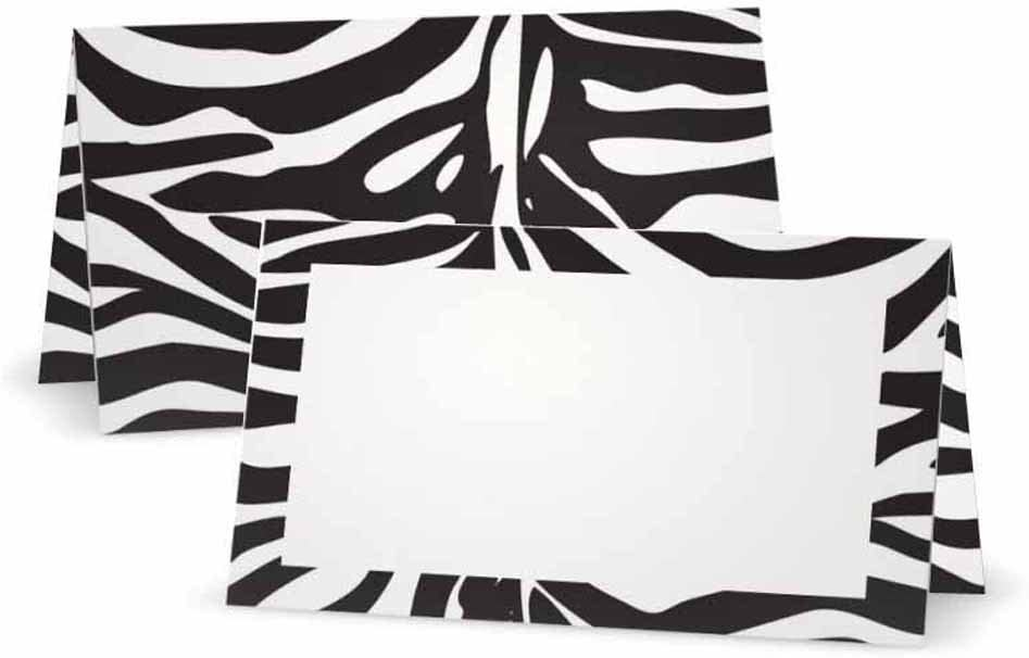 Zebra Animal Print Place Cards - Safety Tucson Mall and trust Flat P Style Tent 50 10 or