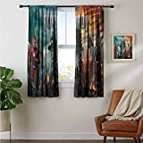 Hinyast Cortina de niños moderna Elsewords 2018 H6 cortinas decorativas para sala de estar