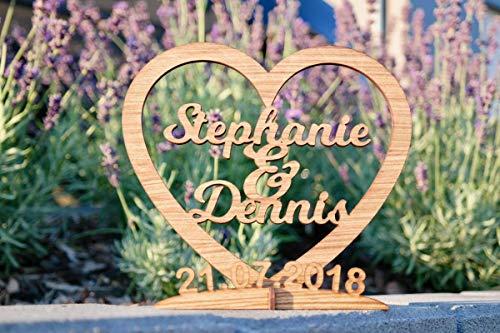 Individuelles Geschenk zur Hochzeit aus Holz