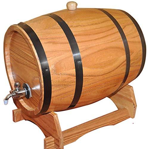 SS mutong Barril de Roble Barril de Whisky, Cubo de Almacenamiento de Roble de 10L con Soporte Adecuado para Almacenar Vinagre de Whisky, Vino y Brandy Vino, Cerveza, Sidra, Whisky.