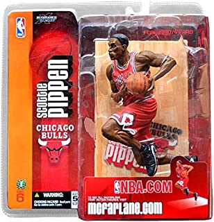 McFarlane Toys NBA Sports Picks Series 6 Action Figure Scottie Pippen (Chicago Bulls) Red Jersey