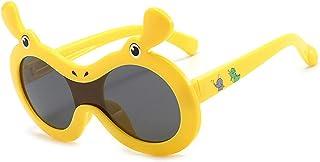 GWQDJ - Gafas De Sol Polarizadas 100% UV400 Gafas De Protección Inquebrantable Seguridad Flexible para Niñas Y Niños Edad 3-12