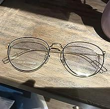 Gafas de sol Gafas de montura redonda FGF ultraligera de titanio marcos retro personalidad de la moda masculina y femenina de la miopía de la caja redonda marcos literarias grandes piernas delgadas de