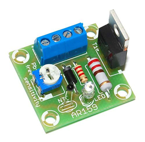 AR159M regelaar van de ventilatordraad, 12 V, 1,5 A, soldeerbouwset van 20 °C tot 200 °C, afkoeling van elektrische apparaten instelbaar.