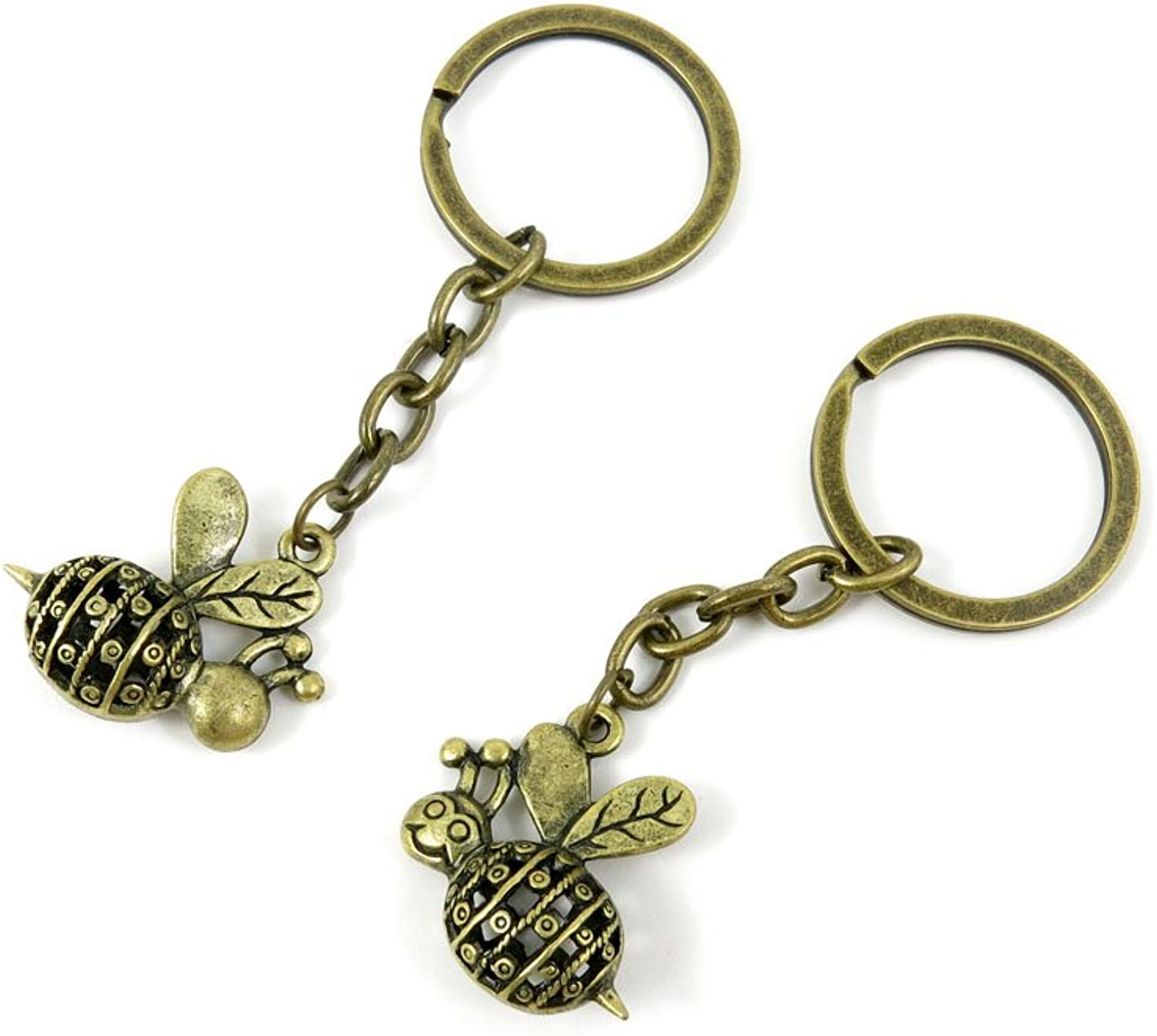 100 Pieces Fashion Jewelry Keyring Keychain Door Car Key Tag Ring Chain Supplier Supply Wholesale Bulk Lots B7NT4 Hollow Bee
