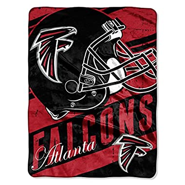 The Northwest Company Officially Licensed NFL Atlanta Falcons Deep Slant Micro Raschel Throw Blanket, 46  x 60