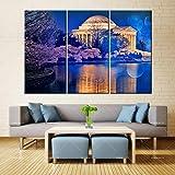 N / A Pintura de la Lona Arte de la Pared Burbuja Azul Castillo Aislado inyección de Tinta Tinta Impermeable decoración del hogar