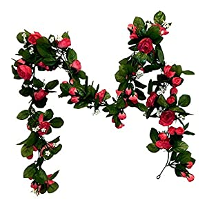 6ft Mini Rose Garland Wedding Arch Swag Backdrop Artificial Fake Silk Flowers Mauve Pink