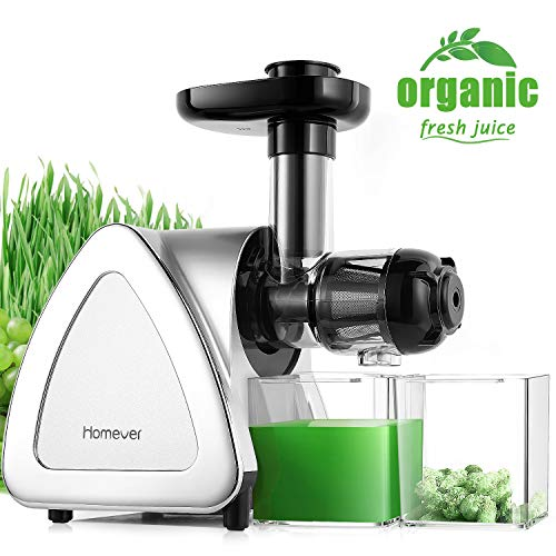 Juicer Machines, Homever Slow Masticating Juicer Extractor Easy to Clean, Cold Press...
