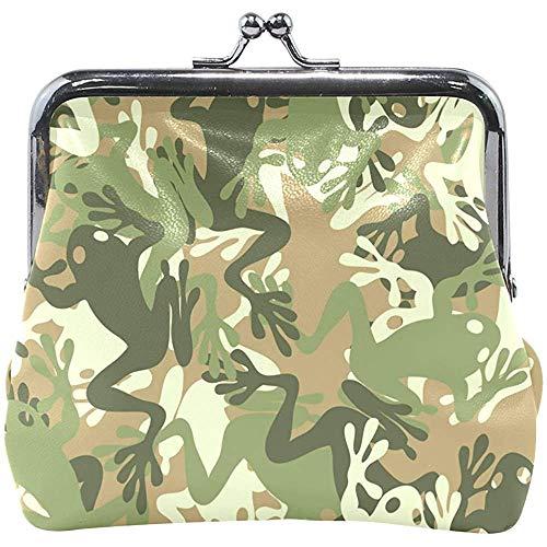 Portemonnee sluiting wijzigen Frog Camouflage Walllet dames handtas