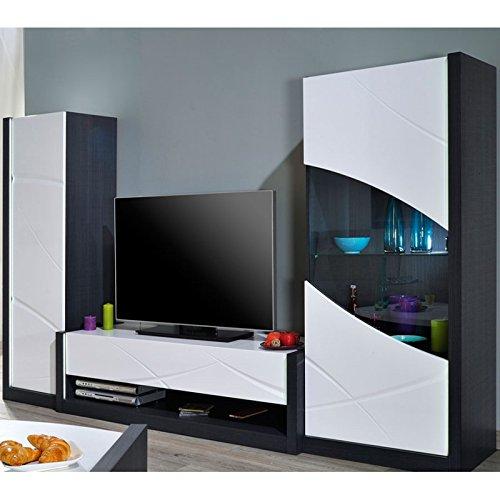 Tousmesmeubles Composition TV à LEDs - ECLYPSE - L 269 x l 50 x H 45 - Neuf