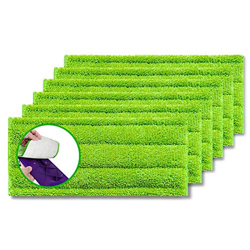 Microfiber Mop Pads 6 Pack Fit Swiffer WetJet Reusable and Washable Microfiber Mop Pad Refills Cleaning of Wet or Dry Floors Fitting for Home/Office...