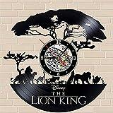 JIAOXM Horloge de Mur de Vinyle d'enregistrement, Ornement accrochant, Salon/Horloge, Mode/Creative/Mute/Chambre à Coucher/rétro/nostalgique/Horloge de Mur,Black,30cm