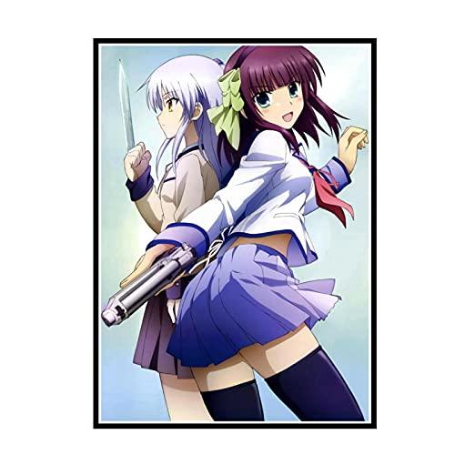 GUICAI Angel Beats Anime Manga Imagen Arte impresión póster decoración de la Pared del hogar-50X70 cm sin Marco 1 Uds