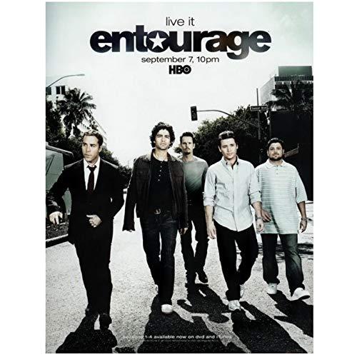 Entourage - Prossimi Commedia Drammatica Poster Serie TV Opere d arte da parete Decorazione per la casa Stampe opere d arte - 50 x 80 cm senza cornice
